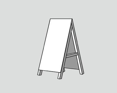 スタンド看板A型看板